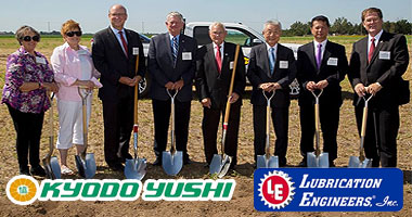 Kyodo Yushi Manufacturing / Lubrication Engineers, Inc. Manufacturing Facility Ground Breaking