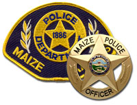 Maize Police Shoulder Patch and Badge